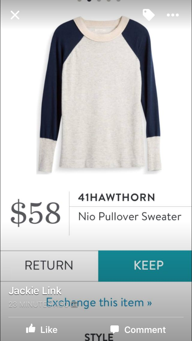 41 Hawthorn Nio Sweater - not sure this color combo is my favorite, but I like the style. Maybe in another color?