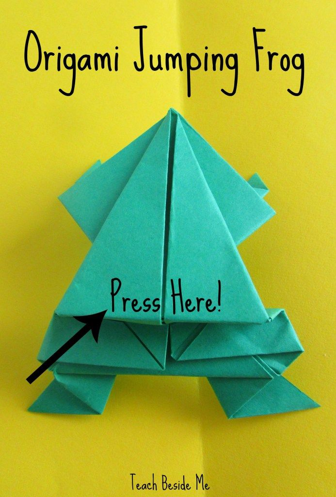 Leap Frog Math Game with origami jumping frogs - SO fun my kids played with them forever.