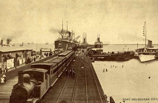 Port Melbourne Pier, 1905.