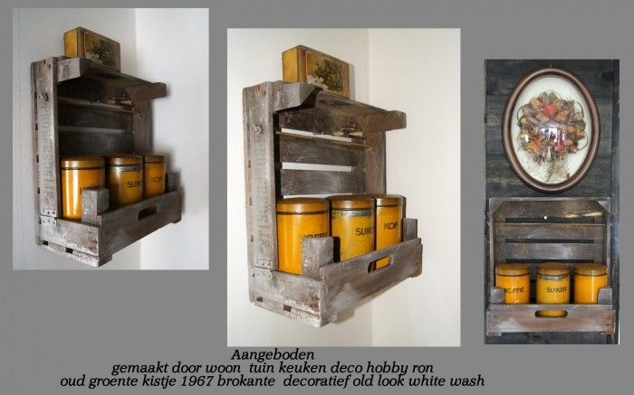 177 best images about steigerhout producten on pinterest kerst brocante and tvs - Deco keuken oud land ...
