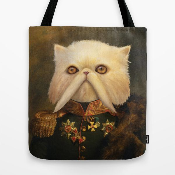 Persian Cat Emperor by Catalin Anastase as a high quality Tote Bag. Free Worldwide Shipping available at Society6.com from 11/26/14 thru 12/14/14. Just one of millions of products available.