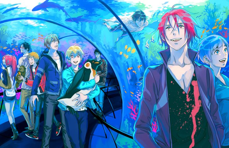 Free! ES ~~ A trip to the aquarium for Samezuka and Iwatobi goes awry when a certain kid can't keep his pants on....