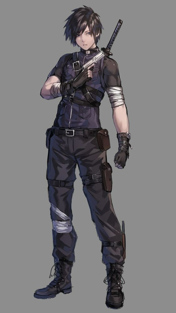 Anime military soldier male