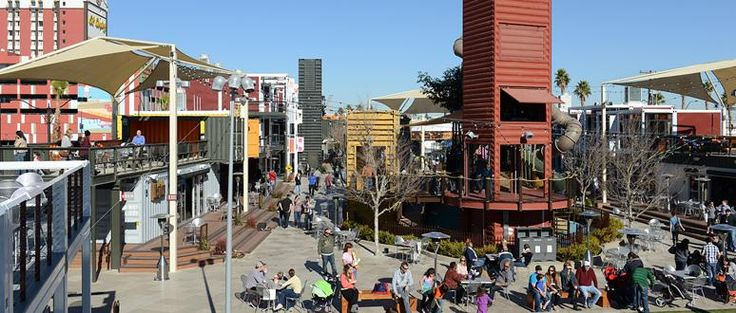 The downtown container park is a family friendly outdoor shopping dining and entertainment - Container homes las vegas ...