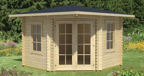 The Hollywood - (3.2m x 3.2m)* - Log Cabins Ireland - Duraboard Home, better than log cabins - Prices Include Delivery and Installation