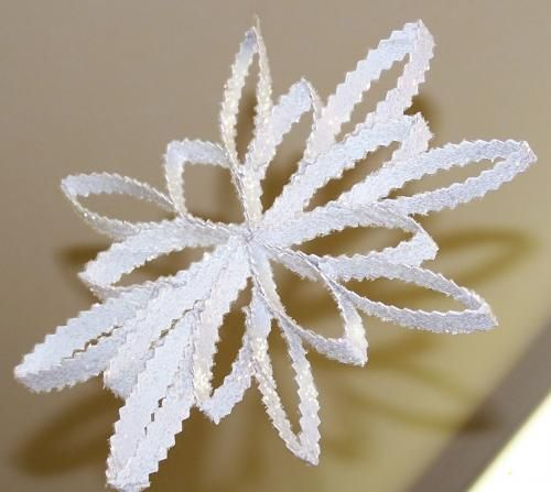 Snowflakes from Toilet Paper Rolls.
