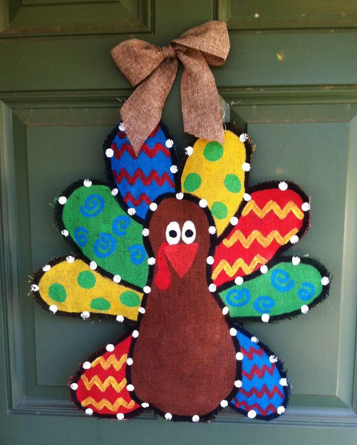 Burlap Turkey Door Hanger.