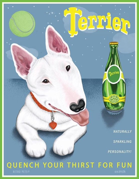 #Bullterrier Poster #English #Bull #Terrier #Dog #Terriers #Creative #Dogs #DogArt #Poster