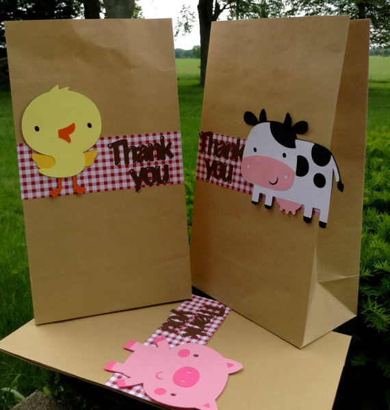 Barnyard Farm Animal Bash Goodie Bag set of by BellaPartyCreations, $12.50