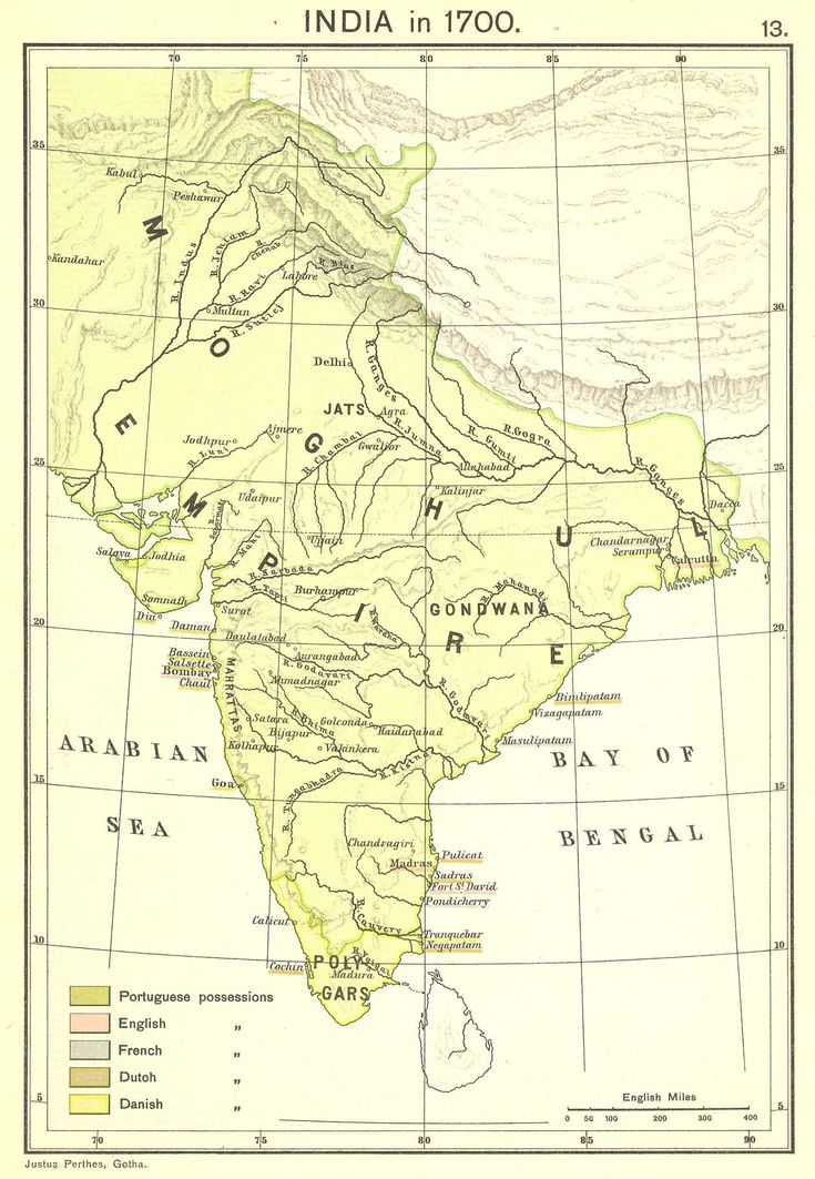 Moghal Empire in 1700