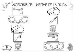 Mi grimorio escolar: LOS ACCESORIOS DEL UNIFORME DE LA POLICÍA