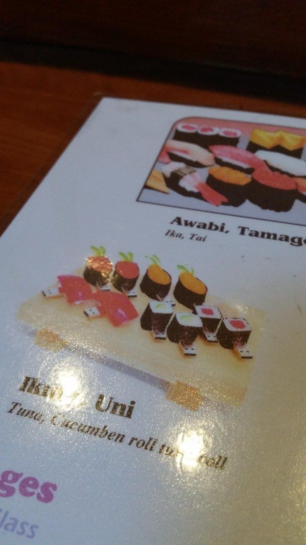 """This sushi restaurant accidentally put a picture of USB sushi on its menu. 