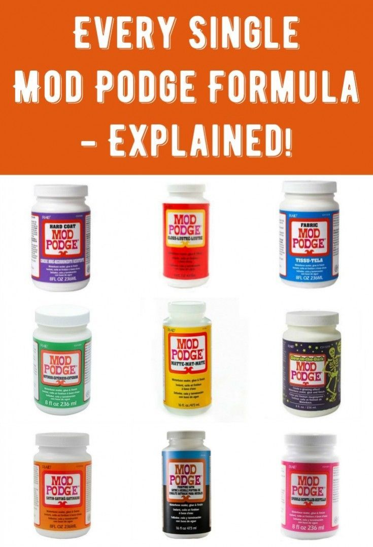Are you curious about the Mod Podge formulas? Do you want to learn what each decoupage formula does and get sample DIY projects? You'll want to bookmark this amazing guide! Mod Podge can be used for pictures on wood, canvas, paper, ceramic, glass, fabric, and more. Learn how to use it here.