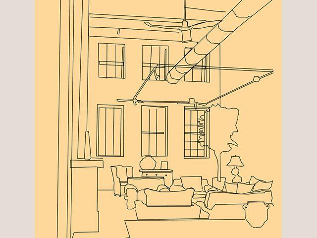 Design By V Chajec Digital Rendering Loft Interior Student Work