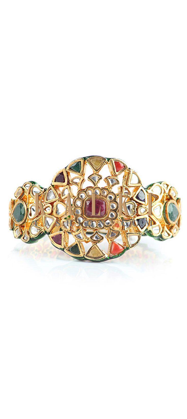 Buy Online from the link below http://www.kalkifashion.com/traditional-kundan-kada-style-bracelet.html