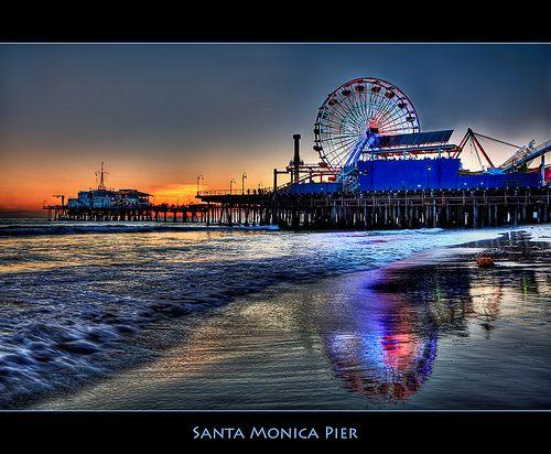 Santa Monica Pier, Santa Monica, California  Photo by Pedro Szekely
