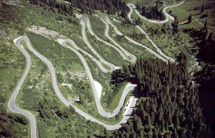 Vorarlberg - Silvretta Hochalpenstrasse (high alpine road) in Austria - photo by Alfred Havlicek, via austria-forum
