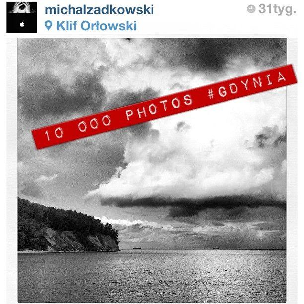 10000 photos with #Gdynia hashtag on Instagram, photo by @Michał Żadkowski  #instamood #igersgdansk #10000  (w: Klif Orłowski)