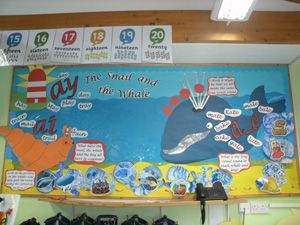 snail and the whale classroom display - Google Search