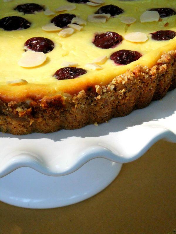 Cherry Studded Ricotta Tart == Proud Italian Cook