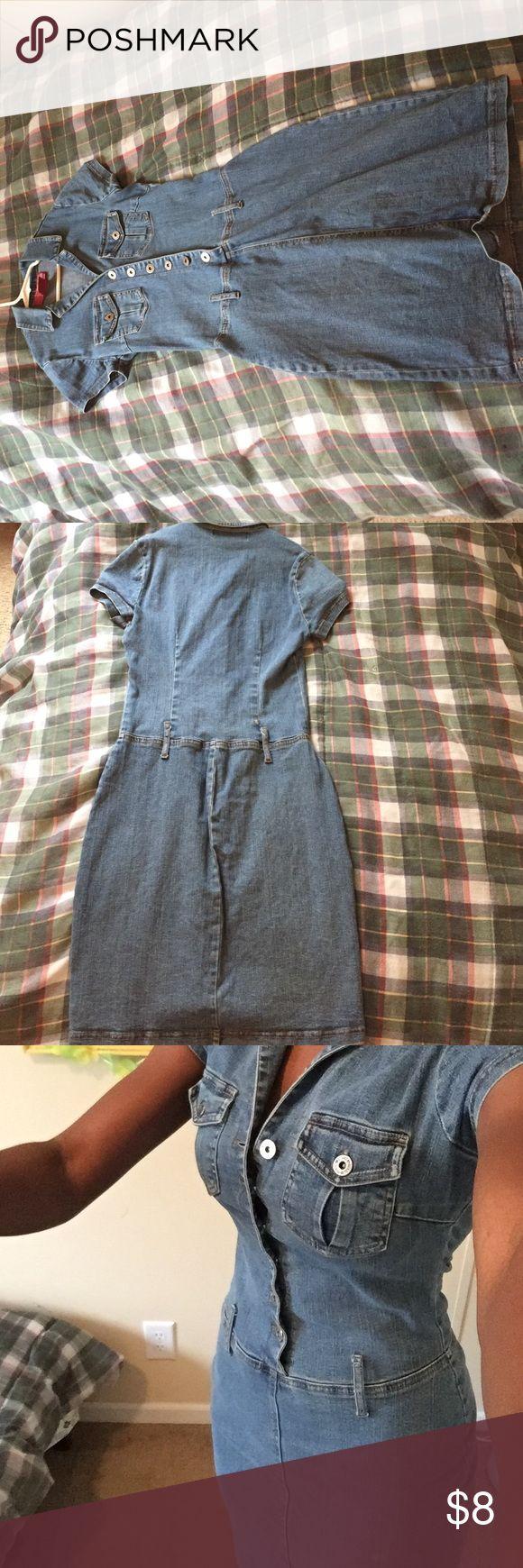 Jean dress Jean dress. Small. Good shape Hot Kiss Dresses Midi