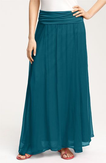 Adore the color of this Max & Mia Crinkled Maxi Skirt. (Nordstrom)