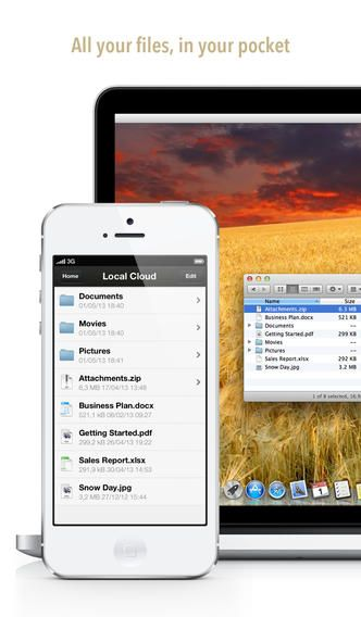 Local Cloud 아이폰과 아이패드의 파일을들 맥과 피씨로  자유롭게 이동