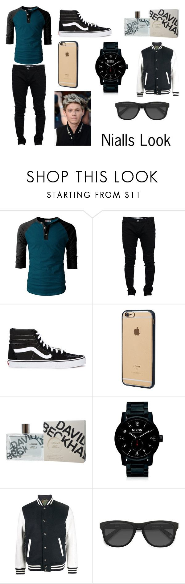 """Nialls look"" by courts-horan13 on Polyvore featuring Soul Star, Vans, Incase, David Beckham, Nixon, Sophnet., men's fashion and menswear"