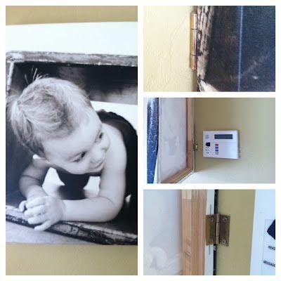 diy-- photo canvas alarm panel coverCanvas Photos, Panels Covers, Photos Canvas, Third Boobs, Canvas Wall Art, Photo Canvas, Alarm Panels, Canvas Alarm, Covers Up