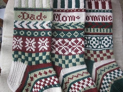 110 best xmas stocking images on Pinterest | Christmas knitting ...