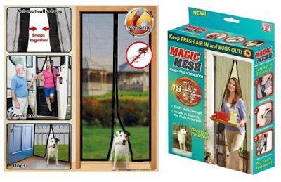 Pasar Indonesia: Magic Mesh Tirai Pintu Magnet Pelindung Ruangan da...