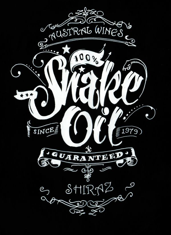 Snake Oil Wine Label by Wayne Thompson.