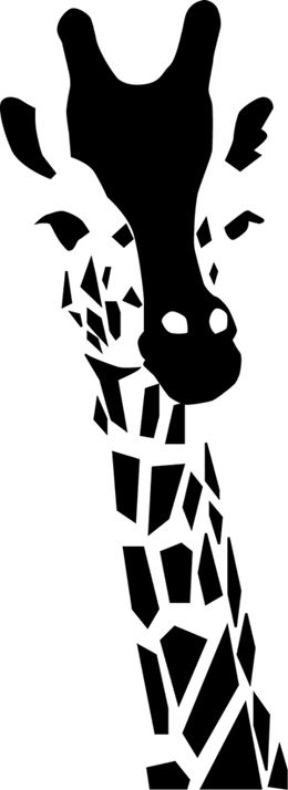 .black shapes + negative space = Giraffe