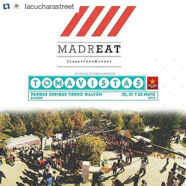 #Repost @lacucharastreet with @repostapp  Dónde está tu #FoodTruck de #CocinaVenezolana? Desde hoy y hasta el domingo nos fuimos con los #Panas del @madreatmarket al @tomavistasfest  Ya sabes 20 21 y 22 de mayo! Parque Tierno Galván un pulmón natural dentro de la ciudad  #MadridMola #ArepasEnMadrid #TequeñosEnMadrid #VenezolanosEnMadrid #FindeEnMadrid #Finde #Foodies #IgersMadrid #InstaFood #PlanesMolones #StreedMenu #StreetFood #Arepas #Tequeños #AlimentosPolar #Polarcita