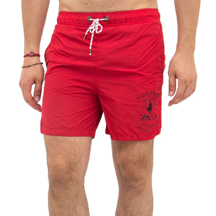 MCS Marlboro Classics | Costume mare uomo bermuda da bagno 7011 - rosso