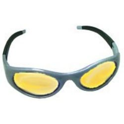Stingers High Impact Safety Glasses - Silver Frames/Yellow Lens