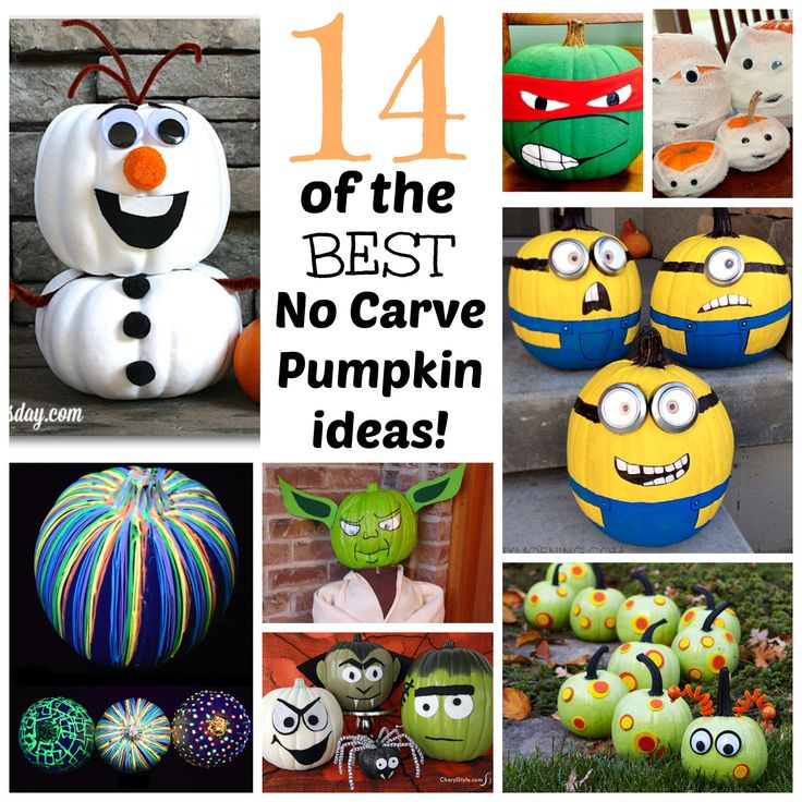 14 of the best no carve pumpkin ideas
