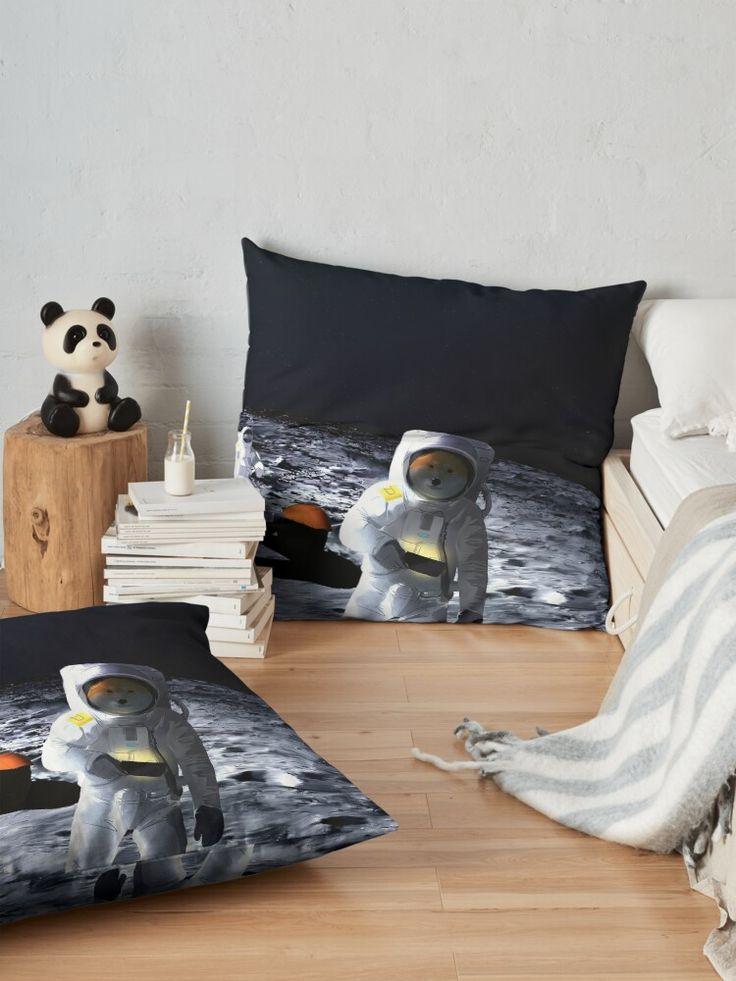 Doge astronauts on the Moon   Floor Pillow in 2020   Floor ...
