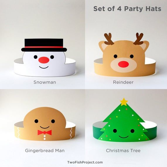 Christmas Party Hats For Kids Adults Christmas Paper Etsy Preschool Christmas Christmas Party Hats Christmas Party Activities