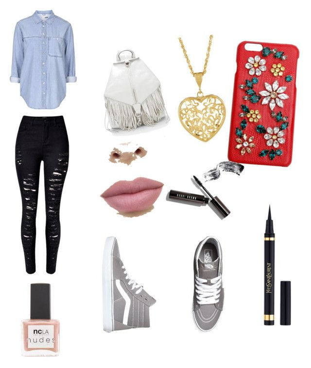 """Untitled #12"" by maria-paula-paez on Polyvore featuring Topshop, WithChic, Vans, Rebecca Minkoff, Dolce&Gabbana, Yves Saint Laurent, Bobbi Brown Cosmetics and ncLA"