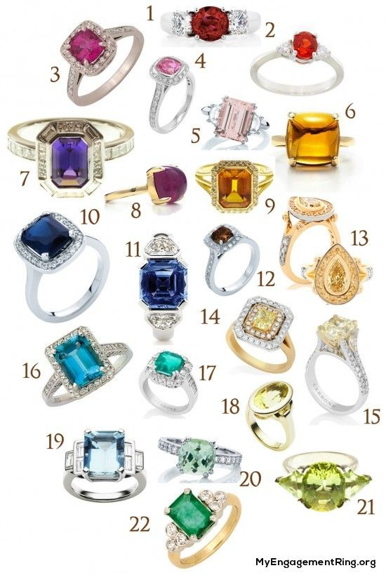 coloured engagement rings - My Engagement Ring