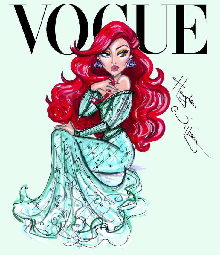 DISNEY :: Ariel - Disney Divas for Vogue by Hayden Williams