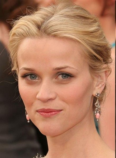 Reese Witherspoon Long Hair Curly Quiff Hairstye