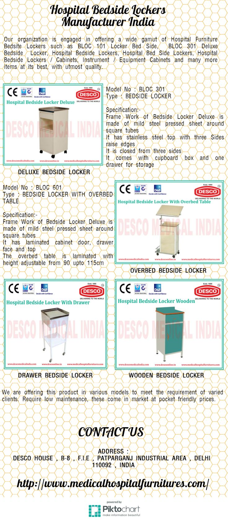 Our organization is engaged in offering a wide gamut of Hospital Furniture Bedsite Lockers such as BLOC 101 Locker Bed Side, BLOC 301 Deluxe Bedside Locker, Hospital Bedside Lockers, Hospital Bed Side Lockers, Hospital Bedside Lockers / Cabinets, Instrument / Equipment Cabinets and many more items at its best, with utmost quality.