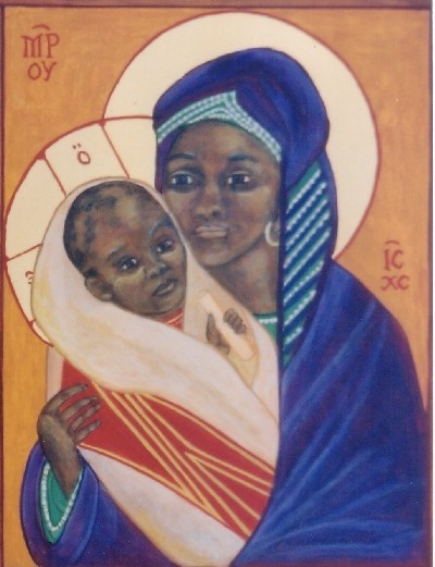 African Madonna and Child Jesus