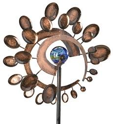 WindwheelGardenpatio Ideas, Dark Spinner, Crafts Ideas, Gardens Spinner, Dual Mots Windwheel, Gardens Goodies, Middle Glow, Gardens Patios Ideas, Wind Spinner