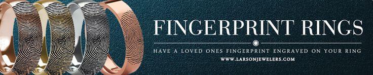 Fingerprint Tungsten Rings & Wedding Bands Engraved With Your Fingerprint - LarsonJewelers.com
