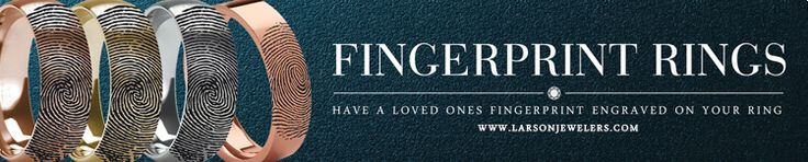 Fingerprint Tungsten Rings & Wedding Bands Engraved With Your Fingerprint - LarsonJewelers.com