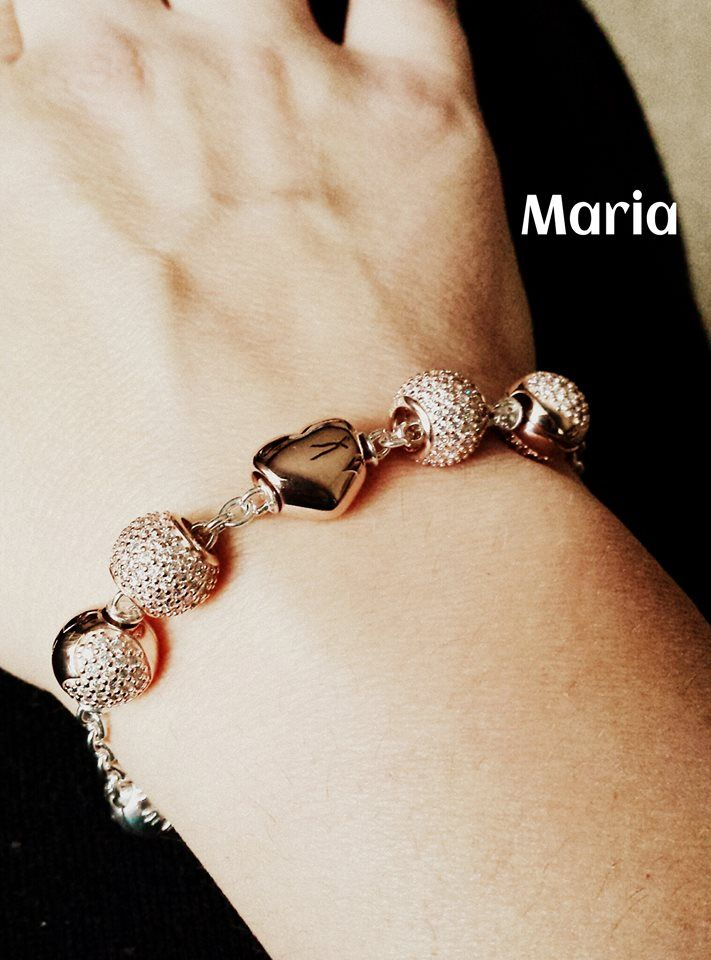 Pandora 5 Clip Station Bracelet With Extra Pave Charms In Between The Clips Pionate For Pinterest Jewelry And