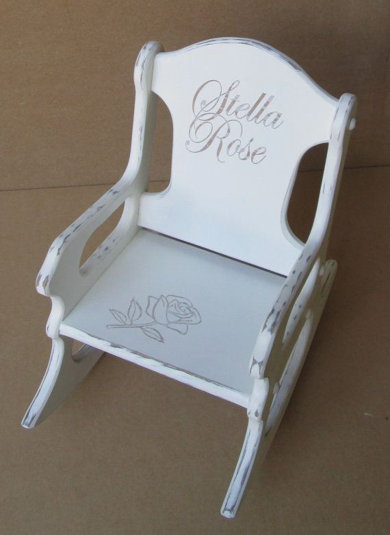 Toddler Rocking Chair/Shabby Chic/Distressed on Etsy, $59.95
